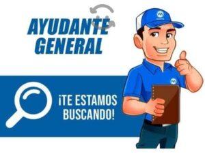 Se solicita Ayudante General (Prestaciones de ley)