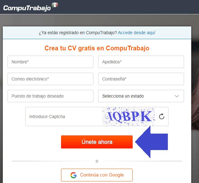 ¿Cómo crear una cuenta en CompuTrabajo?